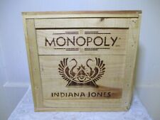 MONOPOLY INDIANA JONES IN WOOD BOX - 2008 - 100% COMPLETE GAME!!