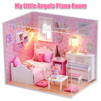 DIY Miniature Dollhouse Project Kit Dolls House My Little Angels Piano Room
