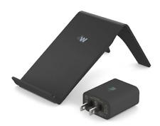 NEW Qi 10-Watt Angled Black Wireless Charging Stand f/ Just Wireless - NIB