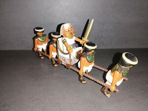 Playmobil 4 Sänftenträger & Sänfte mit König Pharao  NR:803