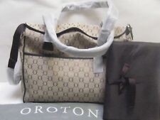 NEW OROTON SIGNATURE BABY DIAPER BAG LEATHER TOTE HAND SHOULDER BAG BROWN RP$495