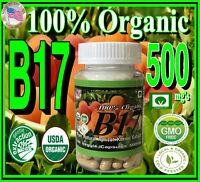 100% Natural Organic Bitter Apricot Kernel Extract Vitamin B17 500mg's USA#1 Veg
