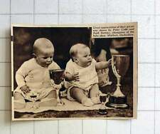 1938 Peter Cobb And Ruth Battley Baby Show Champions Matlock Derbyshire