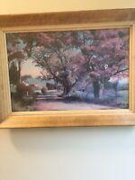 "Charles Sawyer   Print ""Autumn Magic"" Woodstock Vermont. Framed. Signed"