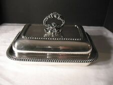 Old Sheffield Silver Plate Two Piece Covered Entree Serving Dish c. 1820