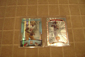 Jerry Rice 1997 Pinnacle Certified Team 5/20 and Vernon Davis Elite 27/85 49ers