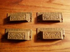 Cast Iron Small Drawer Pull SET OF4  Handle Vintage Furniture Hardware original