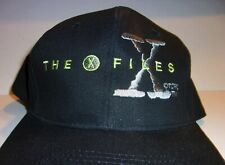 X-FILES VINTAGE 1990'S BASEBALL HAT, CAP SNAP BACK BLACK , EMBROIDERED
