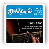 D'Addario EFT16 Flat Tops Acoustic Guitar Strings Light 12-53