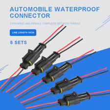 5X 2 Pin Car Waterproof Male Female Electrical Connector Plug Wire 20 AWG Way US