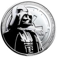 Niue - 2 Dollar 2017 - Darth Vader™ - Star Wars™ - Anlagemünze - 1 Oz Silber ST