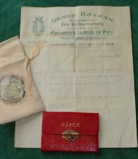 1913 QUEEN AMELIE PORTUGAL PURSE CHILDRENS LEAGUE OF PITY NSPPC CHARITY ROYALTY