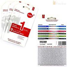 2x Guthaben Mobi Prepaid Sim Karte 9 cent in alle Deutsche Netze Vodafone D2