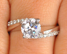 925 Sterling Silver 2.60 Carat Marvelous Round Shape Women's Anniversary Ring