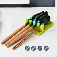 Kitchen Cooking Utensil Spatula Holder Heat Resistant Silicone Spoon Rest Tools