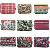 """Computer Notebook Case Sleeve 10"""" ~ 15"""" Laptop Canvas Cover Pouch Bag For HP MSI"""