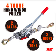 Hand Winch Gold Prospecting Boulder 4 Ton Cable Come Along Car 4X4 Ratchet 4WD
