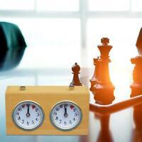 En bois Portable Concurrence Jeu D'échecs Horloge Count Up Down Accessoires