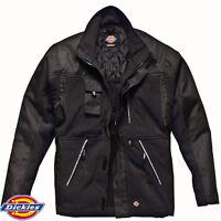 Fleece Jacket Bonded Casual Dickies Eisenhower Warm Multi Pocket Black RRP £40