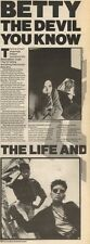 16/6/90Pgn12/13 Article & Picture(s) betty The Devil You Know The She-rapper Bet