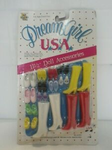 "VTG 1986 Ben Cooper Toys Dream Girl USA Shoe & Boot Accessories for 11-1/2"" Doll"