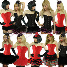 Burlesque Costume Corset Dress Tutu Skirt Fancy Dress Size 6-24 Halloween Gems