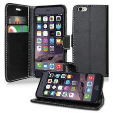 Flip Wallet Leather Case Cover for Samsung Galaxy Phone Screen Protector Plain Black A5 A500f