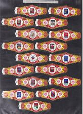 Série complète  Bague de Cigare Vitola Espagne BN115374 Ecussons Tagoro