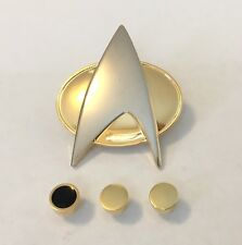 Star Trek The Next Generation Comunicator Pin & Lt. Cmdr. Rank Pin Set