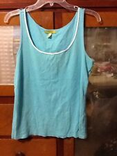 Sigurd Olsen Light Blue Knit Tank Sz Large L Career Casual Sleeveless