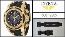 Watch Band Strap For Invicta Reserve Collection Bolt Zeus - Rubber - Black