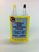 Flexcoat 4 Oz Lite Rod Building Thread Finish F4Yl Kit-Yorker Caps-Free Shipping