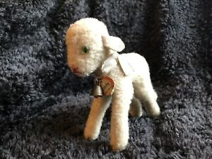 Rare 1953/74 German Steiff Lamb w. Button & Chest Tag ! Lamby !