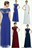 Bridesmaid Dresses Size 6-20 Chiffon Long Evening Party Ball Gown prom dress