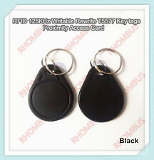 50 pcs T5567/T5577/T5557 Proximity Programable 125KHZ RFID Fobs Tags Keychains