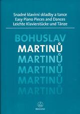 Bohuslav Martinu - Leichte Klavierstücke und Tänze