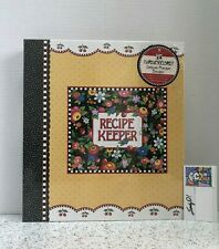 Mary Engelbreit Deluxe Recipe Binder w/ Matching Magnets & Notepad New