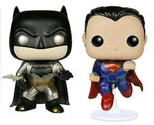 2 Set Batman VS Superman Dawn of Justice Metallic Pop Vinyl Figures