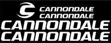Cannondale Bicycle Decal Set NEW DESIGN (Gloss White)