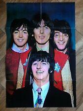 Original BEATLES USA Fan Club Poster and newsletter 1968 Memorabilia