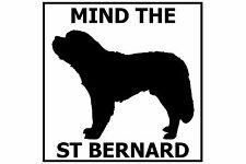 Mind the Saint Bernard - Gate/Door Ceramic Tile Sign