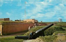 Fort McHenry Baltimore Maryland MD cannon Postcard
