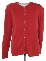 delinea maglione cardigan donna arancione lana merinos cashmere taglia l large