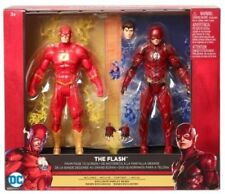 "THE FLASH ( 6"" ) DC COMICS MULTIVERSE ( 2- PACK ) REBIRTH & MOVIE ACTION FIGURES"