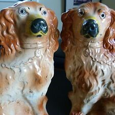 Antique Staffordshire Dogs (Pair) Excellent condition.