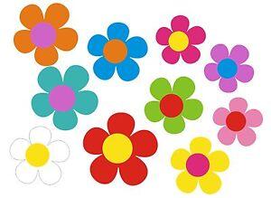 Blumen Aufkleber Hippie Blumen Auto Aufkleber: Mini 09 - 51 Stk. - bunt gemischt