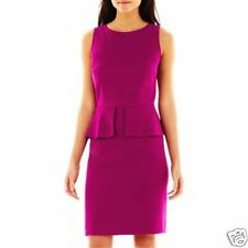 Alyx Sleeveless Purple Split Peplum Dress Plus Size 16 New With Tags $80
