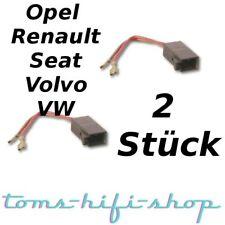 2x Lautsprecher-Kabel-Adapter-Stecker Opel Renault Seat Volvo VW Golf 3