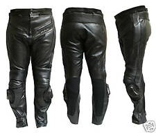 Pantalone Moto in Pelle JF-Pelle mod.9200 Nero TAGLIA58
