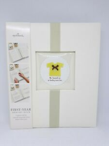 Hallmark First Year Memory Book Baby As Loved As A Baby Can Be Yellow Green